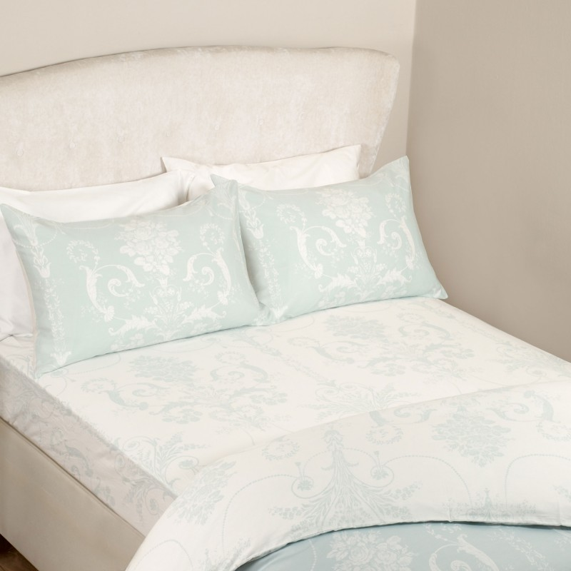 830995d9858 Comprar bajera alta Josette azul verdoso de diseño - Laura Ashley ...