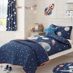 colcha Stars azul marino