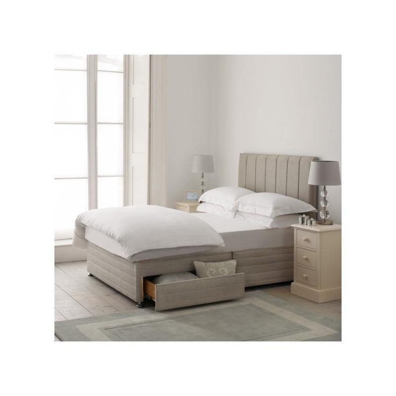 Comprar cama Amelia gris claro colchón superior individual de diseño ...