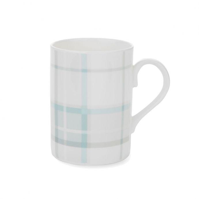 taza mug Highland Check azul verdoso