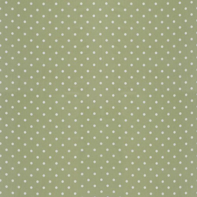 Tejido plastificado Polka Dot verde seto