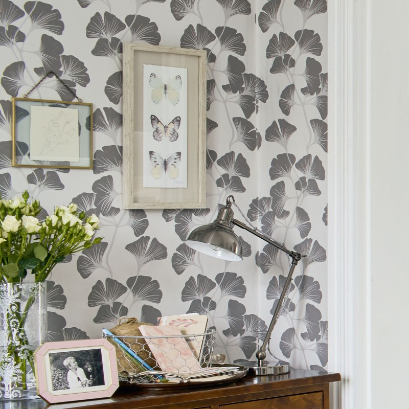 Comprar Lámina enmarcada 3 mariposas en gris de diseño - Laura ...