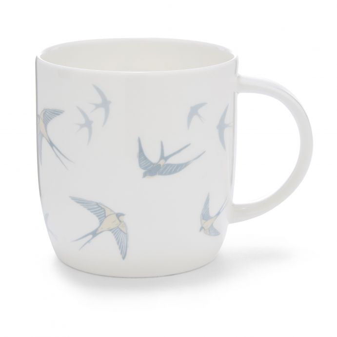 taza mug Blue Birds blanco