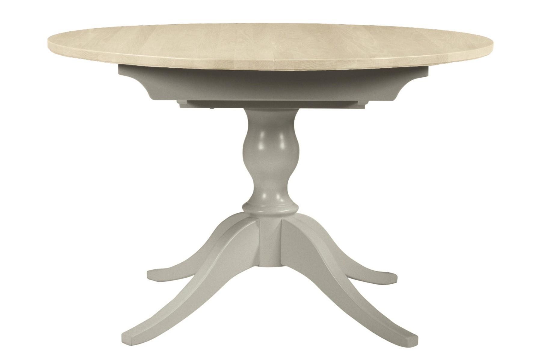 mesa redonda extensible Oakham gris francés