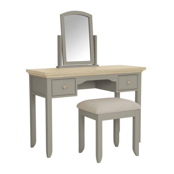 Set espejo & banqueta Oakham Gris Francés