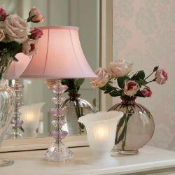 base de lámpara rosa fara