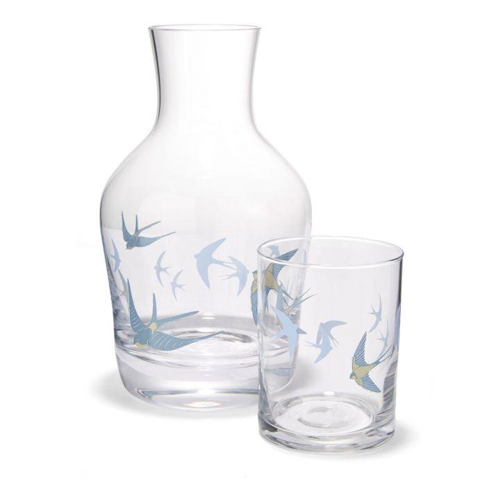 botella y vaso Blue Birds