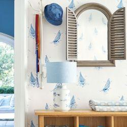 papel pintado ahoy azul mar