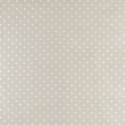 Tejido plastificado Polka Dot gris claro