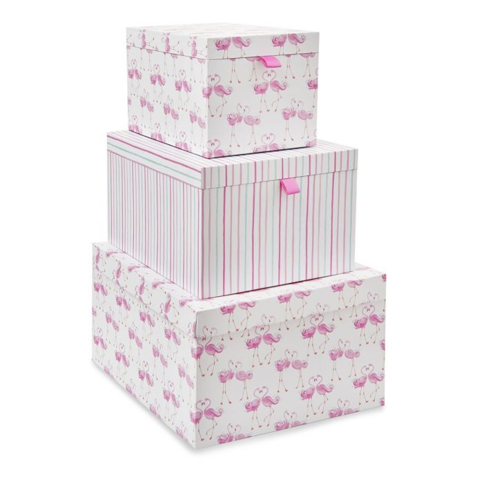 3 cajas Flamingo rosa