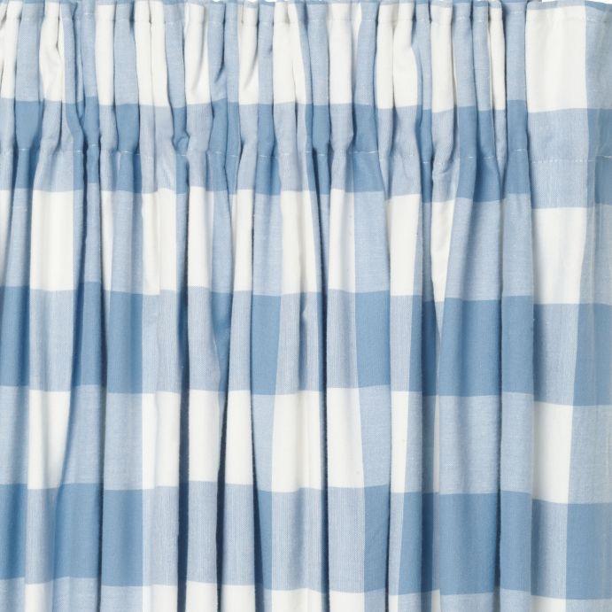 cortinas Oxford check azul