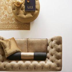alfombra Malmaison oro y marfil