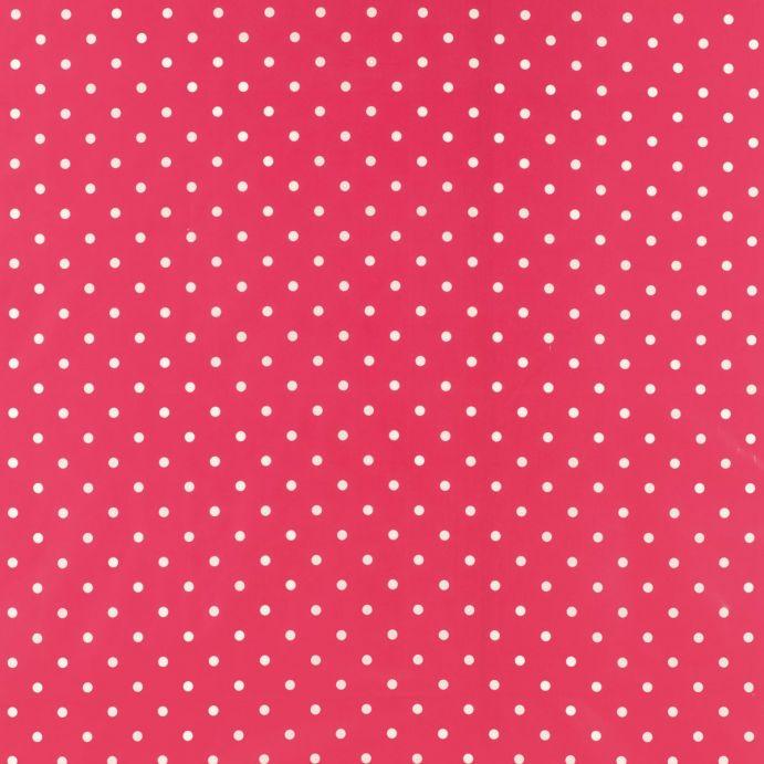 Tejido plastificado Polka Dot rosa pomelo