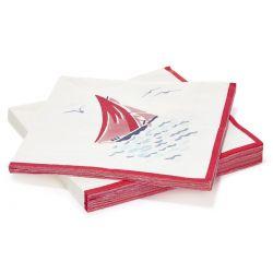 servilletas de papel estampadas Ahoy, Laura Ashley