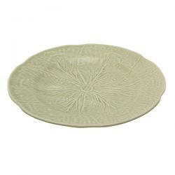 bajo plato cerámica verde col, Laura Ashley