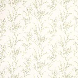 tejido Pussy Willow hueso y verde seto