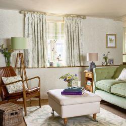 tela Pussy Willow verde seto, Laura Ashley