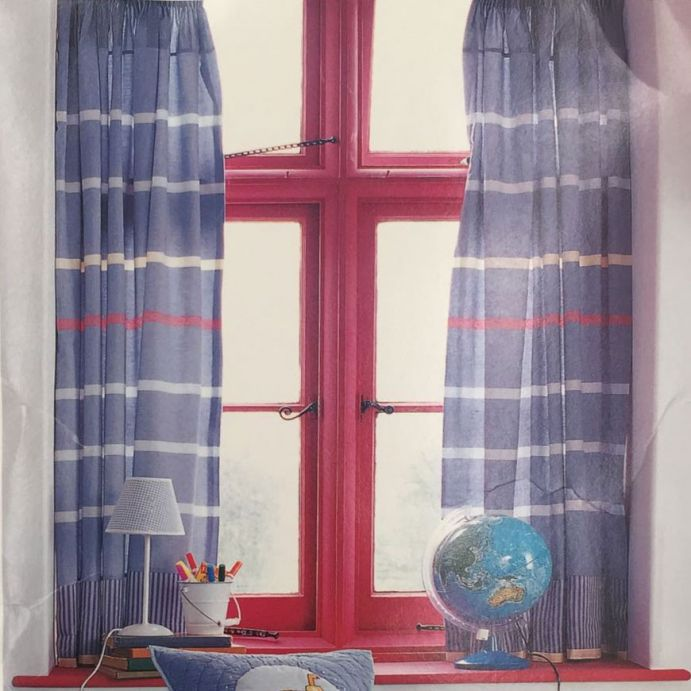 cortinas Blue Stripe azul