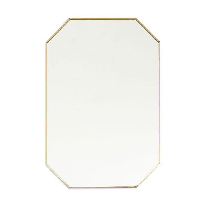 espejo bronce pequeño hexagonal, Laura Ashley