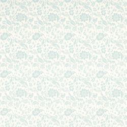 papel pintado de flores hueso y azul verdoso Lila, de Laura Ashley