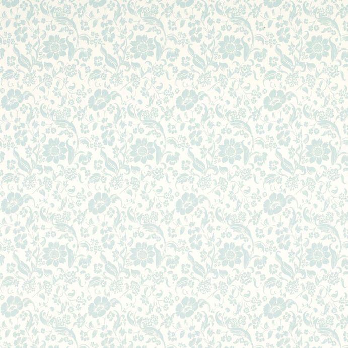 Comprar papel pintado lyla hueso y azul verdoso de dise o - Papel pintado laura ashley ...