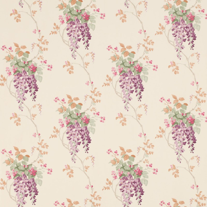 Comprar papel pintado Wisteria uva de diseño - Laura Ashley Decoracion