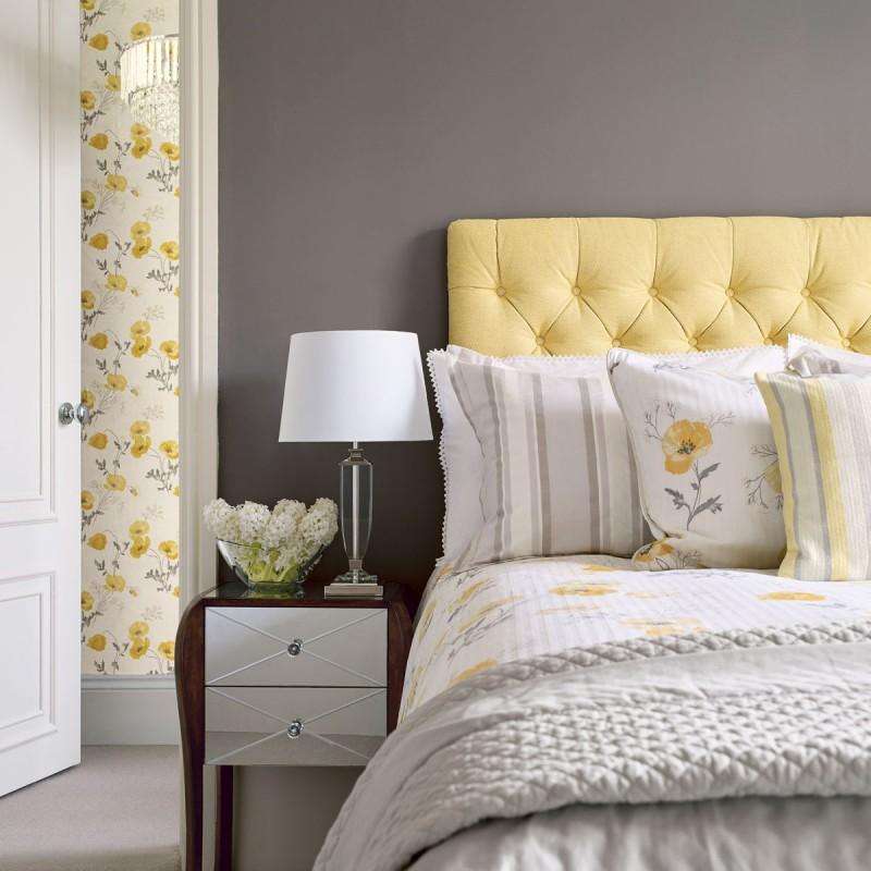 Comprar papel pintado poppy meadow amarillo primavera de - Laura ashley papel pintado ...