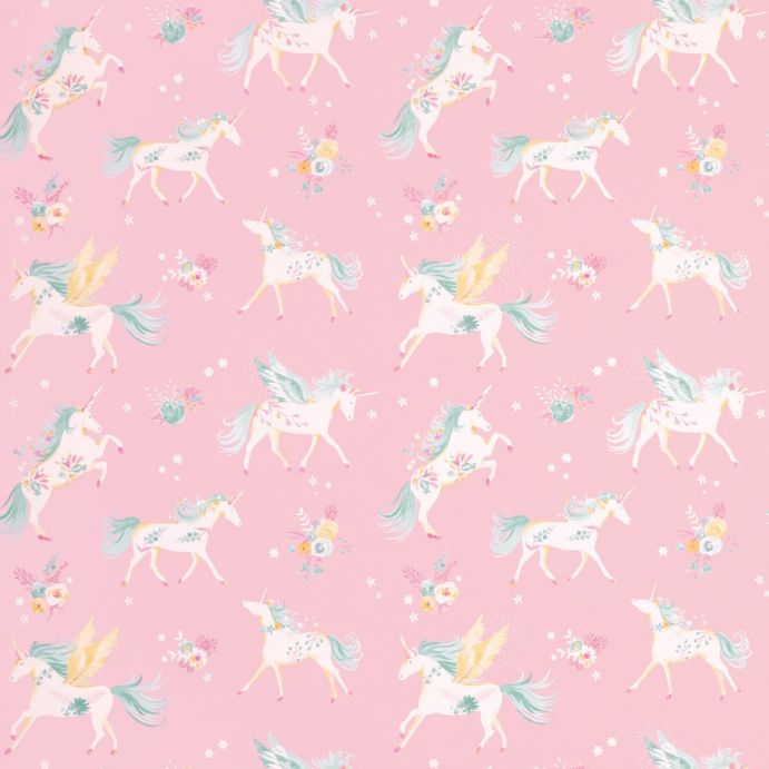 Papel pintado unicorns rosa - Papel pintado rosa ...