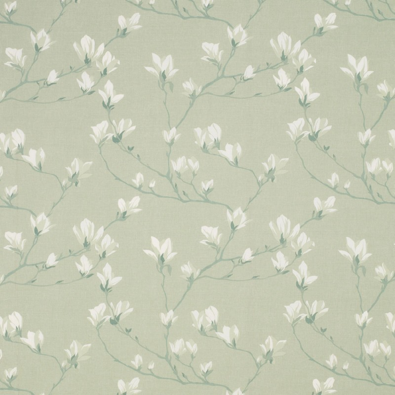 Tejido magnolia grove verde seto - Telas laura ashley ...