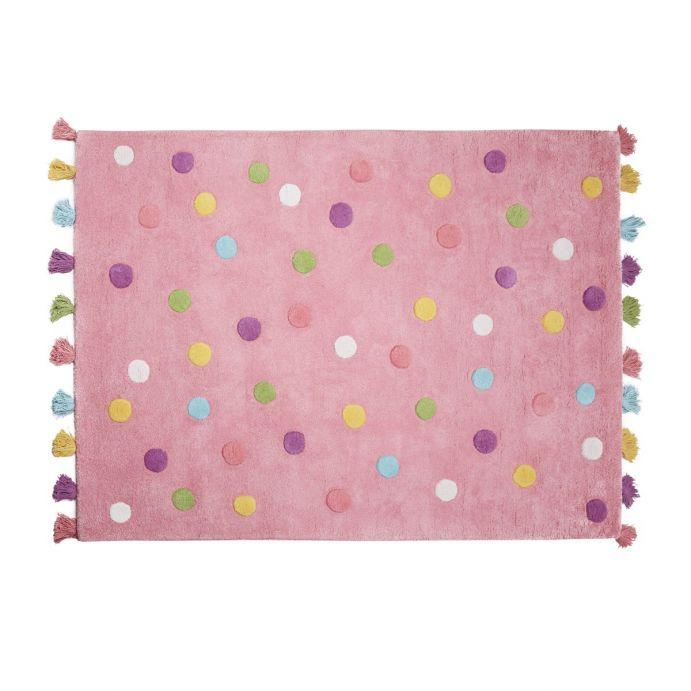 alfombra topos niña rosa Nyla, Laura Ashley