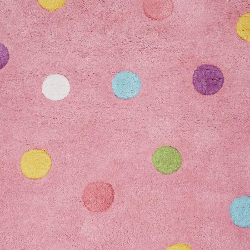 Alfombra nyla pompom rosa 90 x 120 for Alfombra 120 x 150