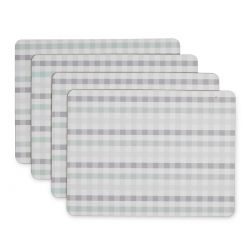 set salvamanteles de cuadros azul Gingham, Laura Ashley