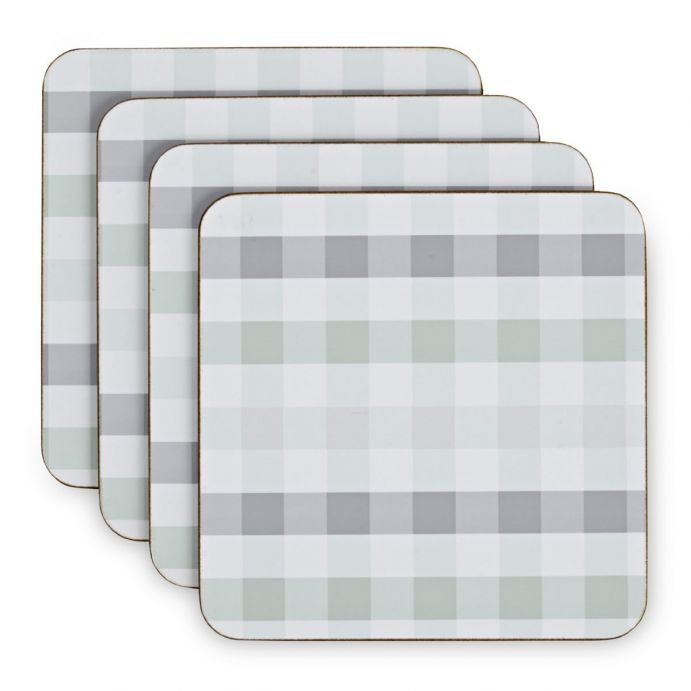 set posavasos cuadros azul Gingham, Laura Ashley