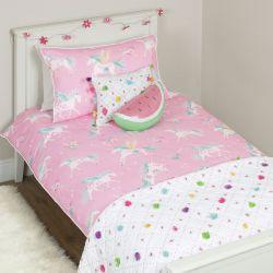 funda nórdica Unicornios rosa