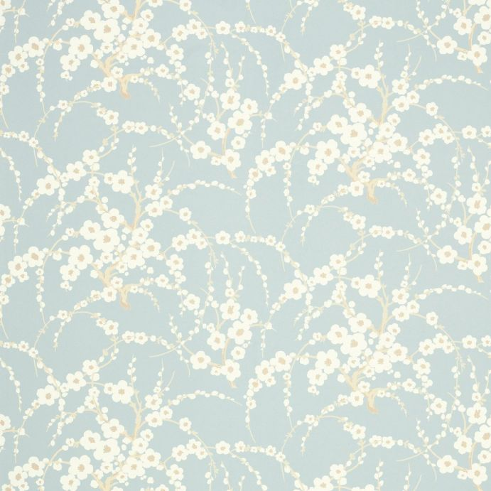 papel pintado de flores Lori azul verdoso, Laura Ashley