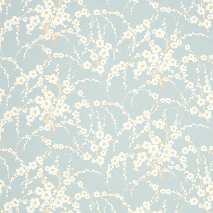 papel pintado de flores Lori azul verdoso, Laura Ashley