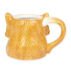 taza con forma de zorro