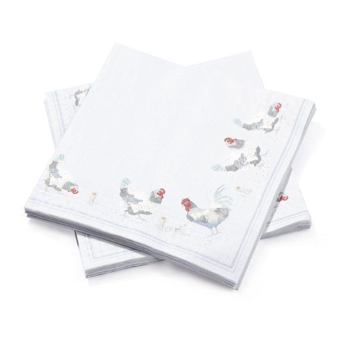 20 servilletas de papel Chickens