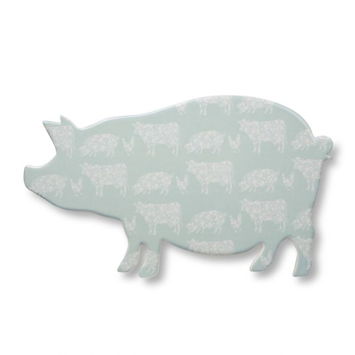 plato con forma de cerdo