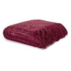 manta roja para el sofá