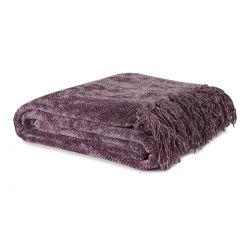 manta morada para el sofá