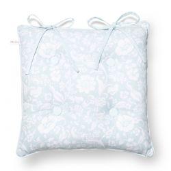 cojín para silla flores azules