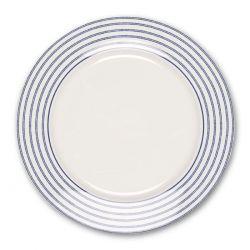 plato de postre con rayas azules