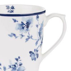 taza de flores azules