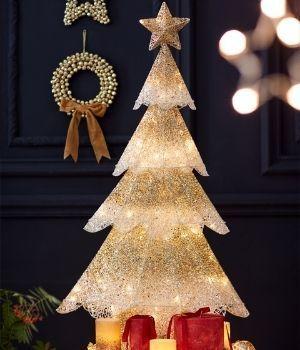 decoración con luz para Navidad