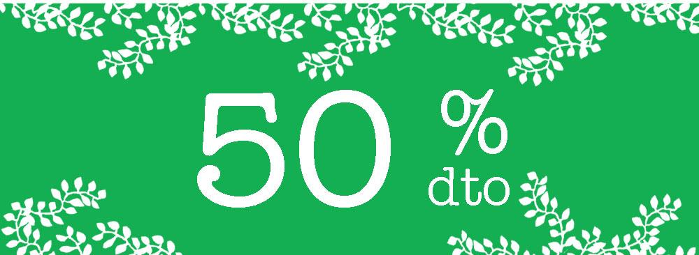 especial nuevos artículos que pasan al 50% de descuento