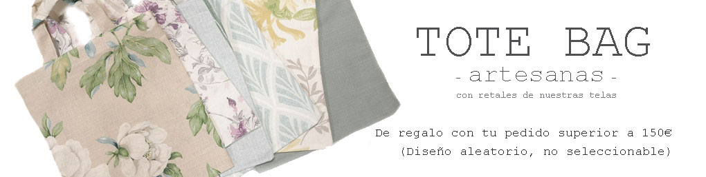 Una tote bag de regalo con tu pedido superior a 100€