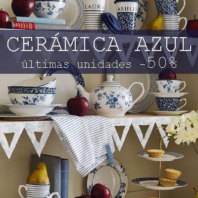 Comprar cerámica azul de diseño con DESCUENTO
