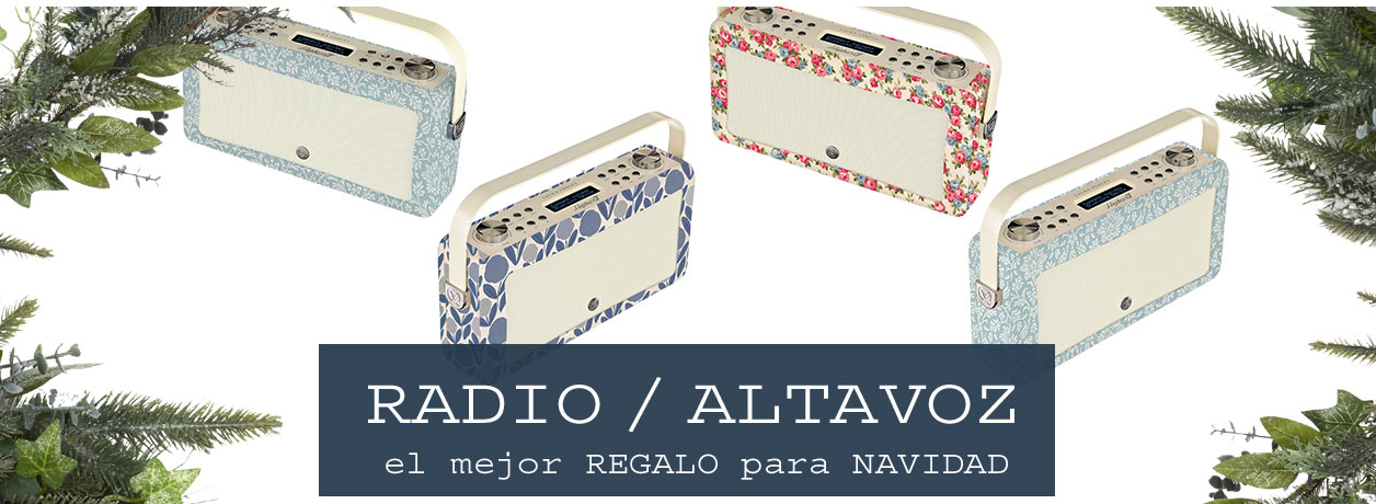 Radio altavoz de diseño estampada estilo Laura Ashley