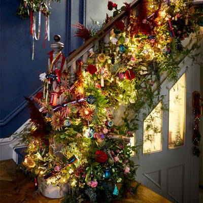 guirnaldas, decoración para casa en navidad